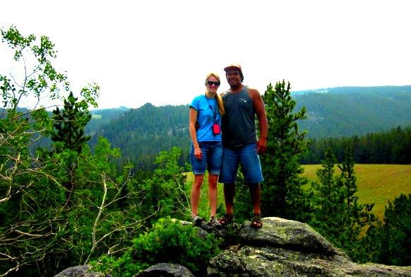 Bethany and Saia in Wyoming.