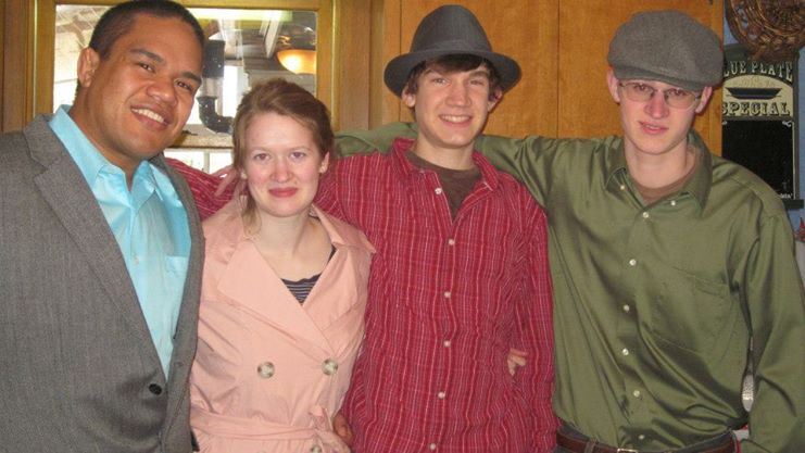 Left to right: Saia (Bethany's boyfriend), Bethie, cousin Adam, and Timothy.