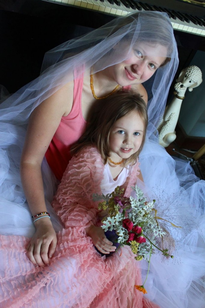 . . .Then she decided I was the bride, and she was the flower-girl, just like in Auntie Bethie's wedding.