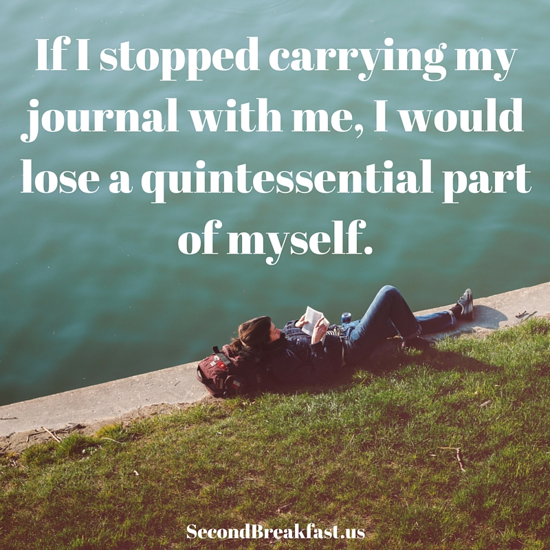 Carrying my journal
